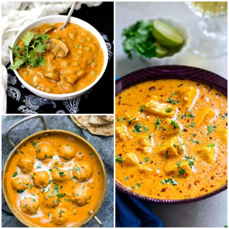 Try any of these amazing 3 Vegetarian Curries with Roti or Naan!